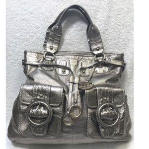 $198 Elliott Lucca Estella Leather Large Tote Bag